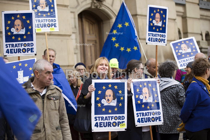 Pro EU protesters demonstrating, Conservative Party Conference, Birmingham, 2018 - Jess Hurd - 2018-09-30