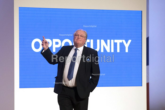 Digby Jones speaking Conservative Party Conference, Birmingham, 2018 - Jess Hurd - 2018-09-30