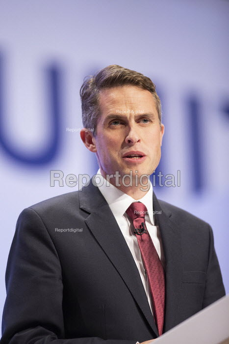 Gavin Williamson speaking Conservative Party Conference Birmingham 2018 - John Harris - 2018-09-30