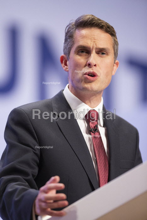 Gavin Williamson speaking Conservative Party Conference Birmingham 2018 - John Harris - 2018-09-30