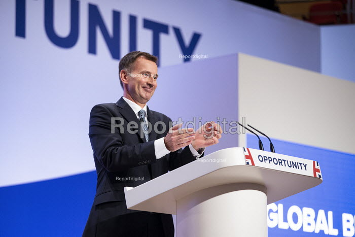 Jeremy Hunt speaking Conservative Party Conference Birmingham 2018 - John Harris - 2018-09-30