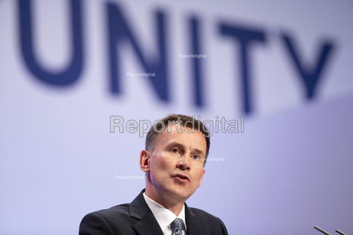 Jeremy Hunt speaking Conservative Party Conference Birmingham 2018 - John Harris - 2018-09-30