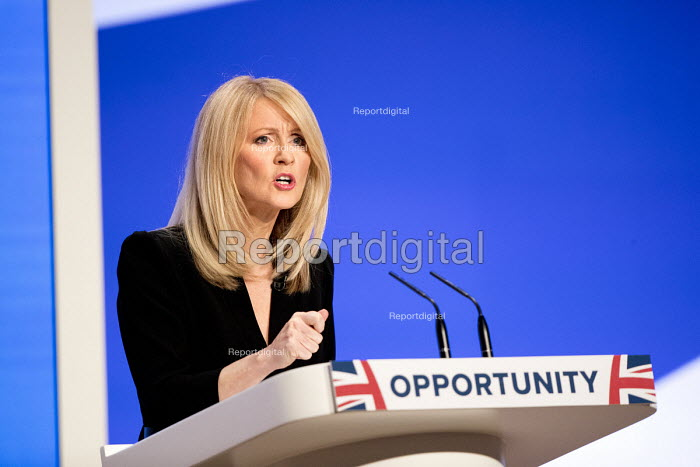 Esther McVey speaking Conservative Party Conference, Birmingham, 2018 - Jess Hurd - 2018-10-01