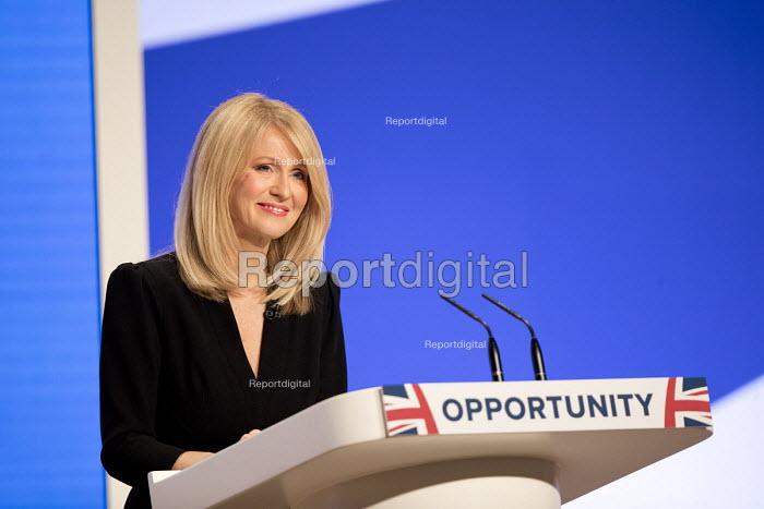 Esther McVey speaking Conservative Party Conference, Birmingham, 2018 - Jess Hurd - 2018-10-01
