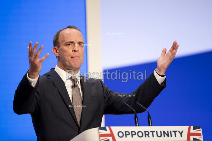 Dominic Raab speaking Conservative Party Conference, Birmingham, 2018 - Jess Hurd - 2018-10-01
