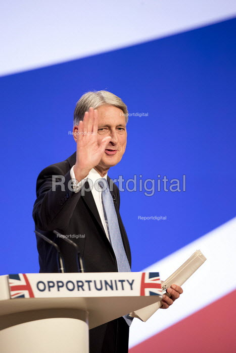 Philip Hammond speaking Conservative Party Conference, Birmingham, 2018 - Jess Hurd - 2018-10-01