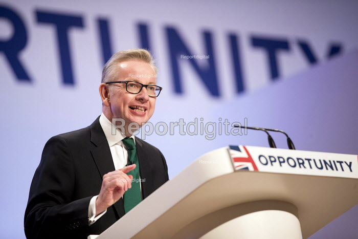 Michael Gove speaking Conservative Party Conference, Birmingham, 2018 - Jess Hurd - 2018-10-01