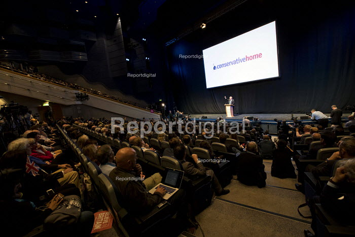 Boris Johnson speaking Conservative Party Conference, Birmingham, 2018 Conservativehome fringe meeting - Jess Hurd - 2018-10-02