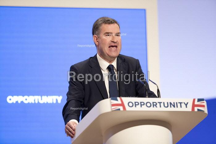 David Gauke speaking Conservative Party Conference, Birmingham, 2018 - Jess Hurd - 2018-10-02