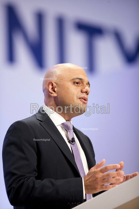 Sajid Javid speaking Conservative Party Conference, Birmingham, 2018 - Jess Hurd - 2018-10-02