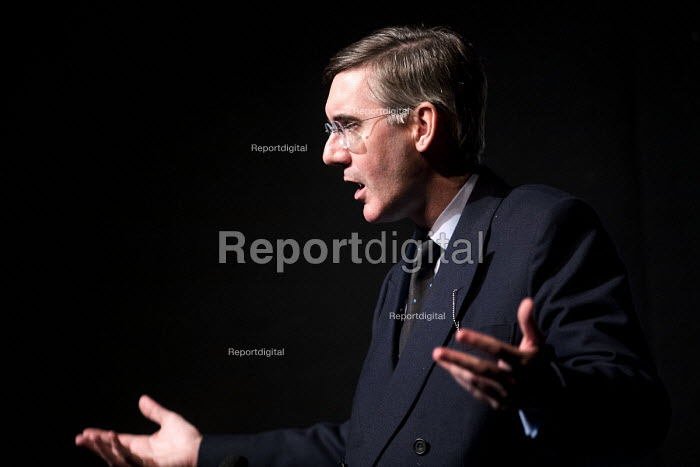 Jacob Rees-Mogg speaking, Politeia fringe meeting, Conservative Party Conference, Birmingham, 2018 - Jess Hurd - 2018-10-02