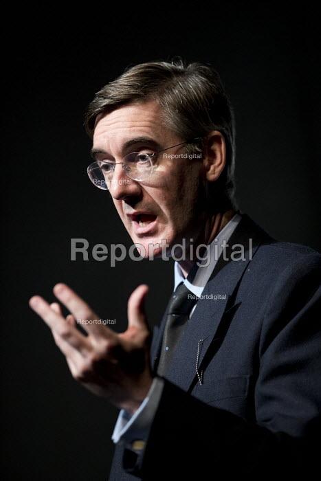 Jacob Rees-Mogg speaking, Politeia fringe meeting, Conservative Party Conference, Birmingham, 2018 - Jess Hurd - 2018-10-02