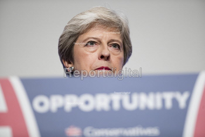 Theresa May speaking Conservative Party Conference, Birmingham, 2018 - Jess Hurd - 2018-10-03