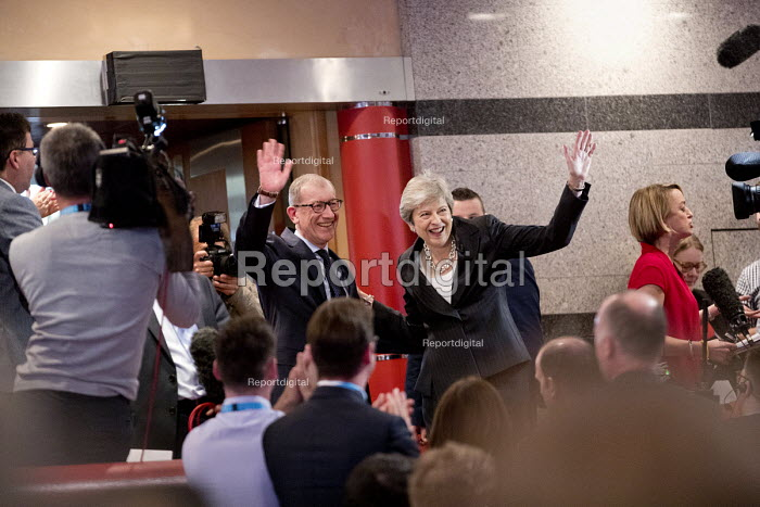 Theresa May and Philip May, Conservative Party Conference, Birmingham, 2018 - Jess Hurd - 2018-10-03