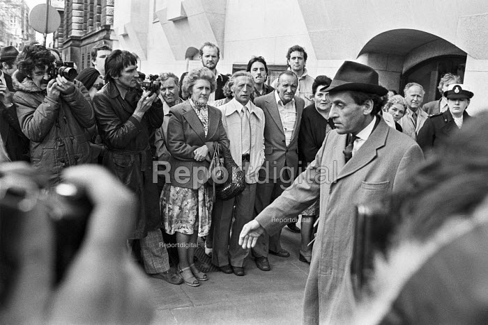 Jeremy Thorpe leaving the Old Bailey during his trial for conspiracy to murder Norman Scott, London 1979 - NLA - 1979-05-18
