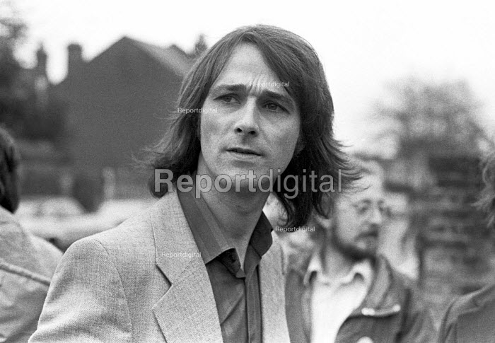 John Berry, one of the 3 accused under the Official Secrets Act in the ABC secrets trial, 1977 in connection with Signals Intelligence (SIGINT) of the army. Berry was a former corporal in SIGINT. - NLA - 1977-04-26