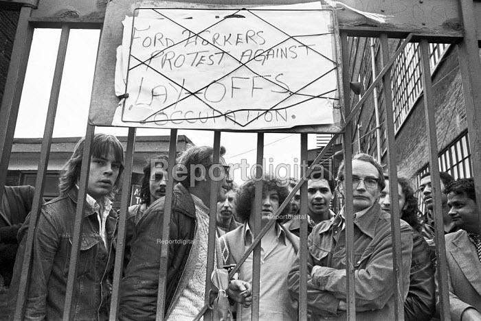 Occupation of Ford Dagenham plant in protest against redundancies 1977 London - NLA - 1977-06-17