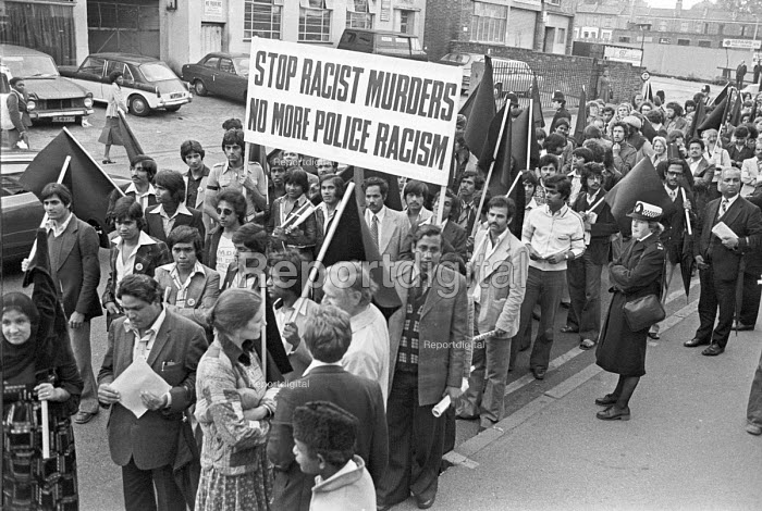 Protest against racism after Altab Ali, a Bangladeshi textile worker was the victim of a racist murder in East London, 1978 - NLA - 1978-06-30