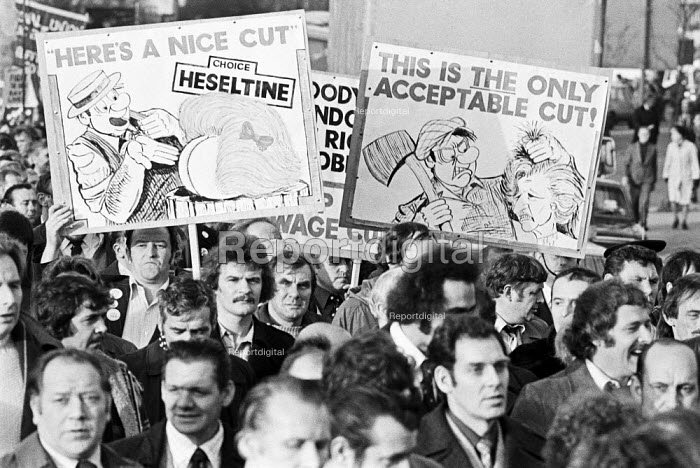 50,000 march on TUC Anti cuts protest, London 1979 a few months after election of Conservative government - NLA - 1979-11-28