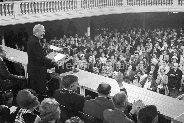 General election 1970. Edward Heath speaking. Conservative Party rally Birmingham - NLA - 1970-06-04