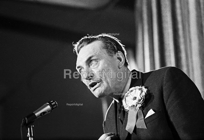 General election 1970. Enoch Powell speaking, Conservative Party rally, Wolverhampton - NLA - 1970-06-11