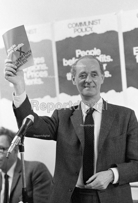 John Gollan, Communist Party, 1970 general election with election manifesto: People Before Profits - NLA - 1970-06-09