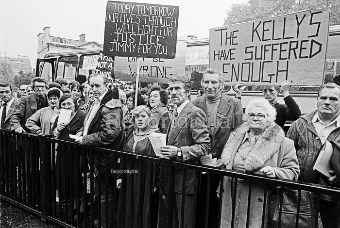 Jimmy Kelly Action Committee lobby, Houses of Parliament 1980. Kelly died an hour after being arrested and allegedly being kicked and beaten by police - NLA - 1979-10-25
