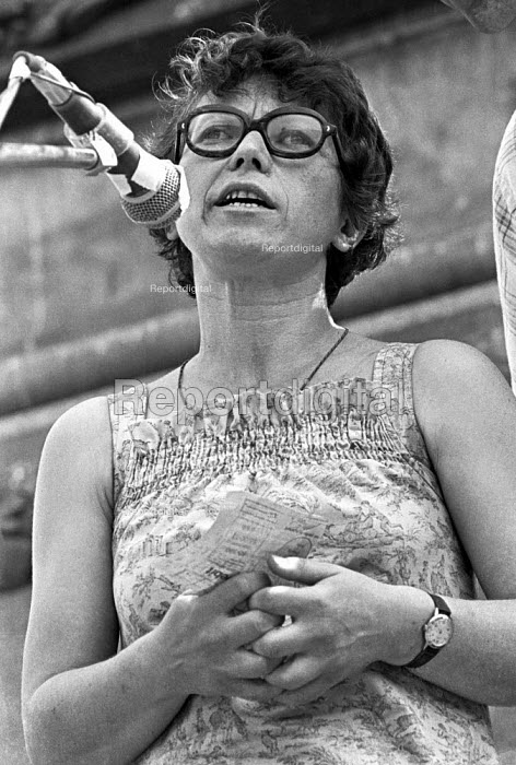 """Natalya Gorbanevskaya Russian dissident and poet, Protest against psychiatric abuses in Soviet Union, London 1976. She was sent to """"psychiatric hospital"""" after protesting in Red Square at the invasion of Czechoslovakia by the USSR in 1968 - Martin Mayer - 1976-07-04"""