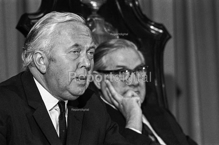 Harold Wilson and Jim Callaghan, Labour Party press conference 1973 - Martin Mayer - 1973-06-07
