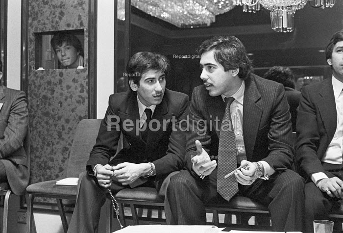 Two sons of Zulfikar Ali Bhutto, Mir Murtaza Bhutto and Shahnawaz Bhutto, tribunal into the execution of Zulfikar Ali Bhutto, prime minister of Pakistan London 1979 He was overthrown by his army chief, General Zia-ul-Haq in a military Coup - Ray Rising - 1979-04-06