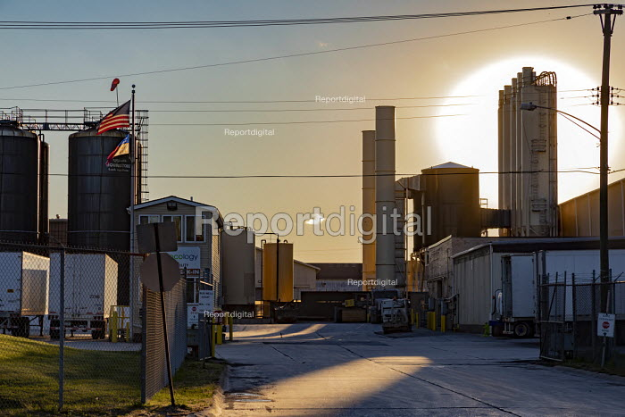 Detroit, Michigan, USA US Ecology hazardous waste plant. The plants are all located in poor, mostly African-American areas. The company handles a wide variety of toxic materials and discharges much of it into the Detroit sewer system - Jim West - 2018-10-15