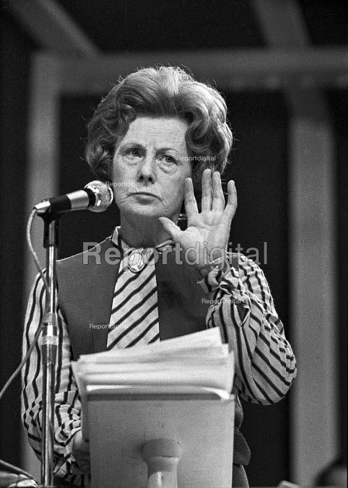Barbara Castle speaking 1972 Labour Party conference - Peter Arkell - 1972-10-05
