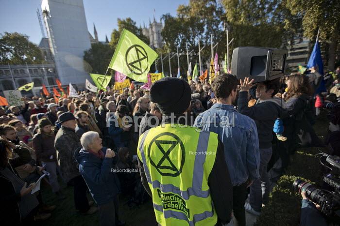 Extinction Rebellion nonviolent direct action against climate change, Parliament Square, London - Jess Hurd - 2018-10-31