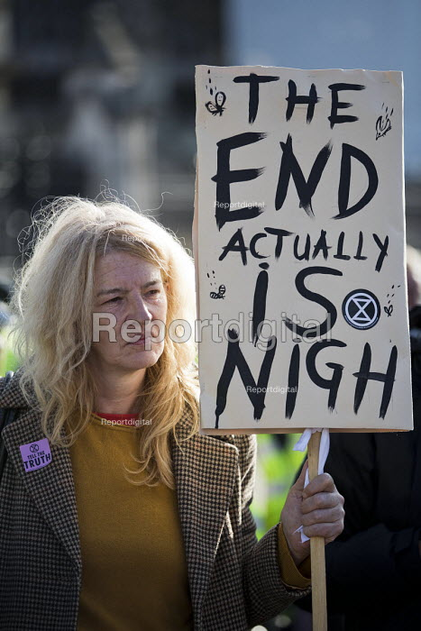 Extinction Rebellion nonviolent direct action against climate change, Parliament Square, London. The End Actually Is Nigh - Jess Hurd - 2018-09-30