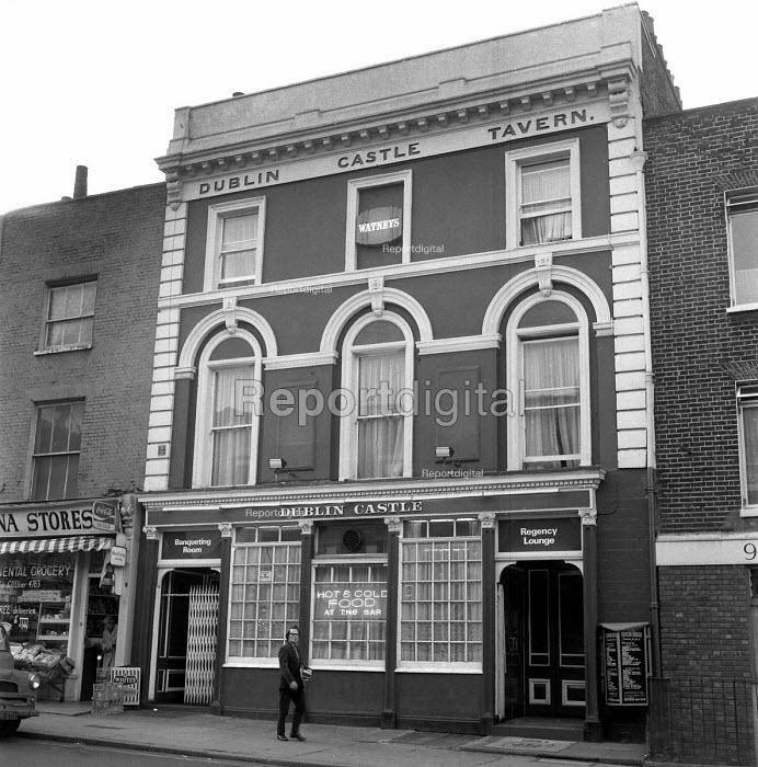 Exterior of the Dublin Castle pub, Camden London 1959 - Alan Vines - 1959-09-02