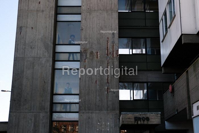 Eros House, Brutalist tower block, Catford, Lewisham, South London designed by Rodney Gordon and Owen Luder and built 1960-63 - Jess Hurd - 2018-11-13