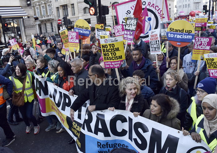 Stand Up To Racism protest demonstration London. - Stefano Cagnoni - 2018-11-17