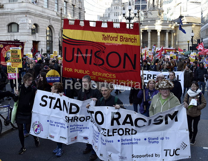 Stand Up To Racism protest London Unison Telford - Stefano Cagnoni - 2018-11-17