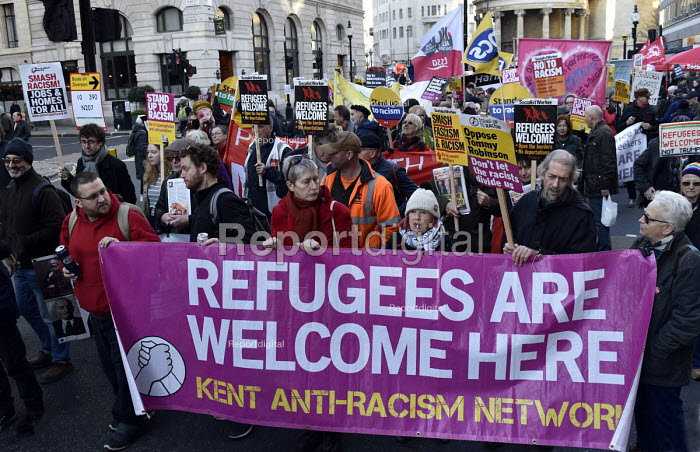 Stand Up To Racism protest London. Refugess Are Welcome Here - Stefano Cagnoni - 2018-11-17