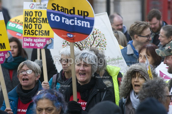 Stand Up To Racism protest London PCS members - Stefano Cagnoni - 2018-11-17