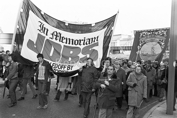 Mass march through Liverpool in protest at Thatcherism, job losses etc. - Peter Arkell - 1980-11-29
