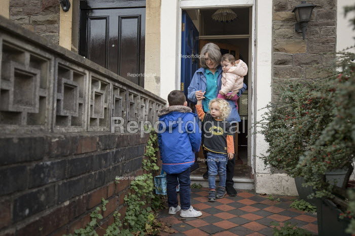 A childminder looking after children, Bristol - Paul Box - 2018-10-23