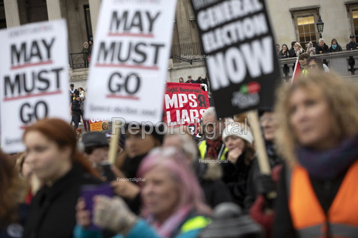 Britain is Broken - General Election Now, People's Assembly protest, Trafalgar Square, London - Jess Hurd - 2019-01-12