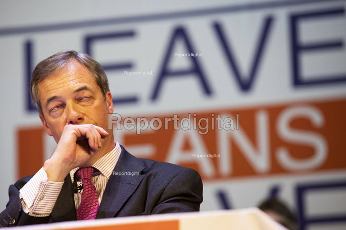Nigel Farage MEP, Leave Means Leave Rally, Central Hall Westminster, London - Jess Hurd - 2019-01-17
