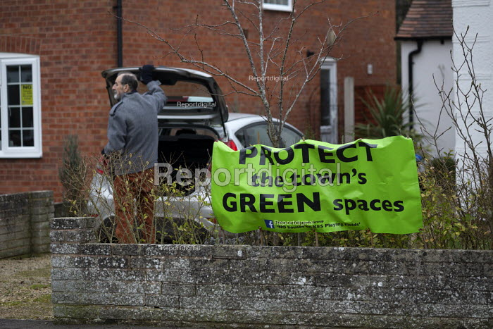 Protect The Town's Green Spaces Protest sign outside a... - John Harris, J1901N021.jpg