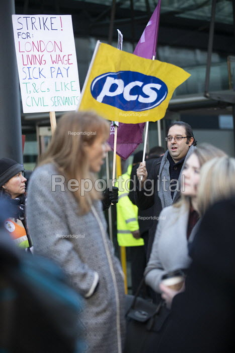 PCS strike, BEIS, London by outsourced cleaners, receptionists and security for a London Living Wage, sick pay and annual leave - Jess Hurd - 2019-01-22