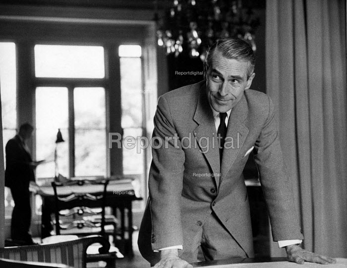 Sir William Holford, architect and town planner London 1961. Holford was the first town planner to be made a Lord, for his involvement with the development of post World War Two town planning in Britain and the Town and Country Planning Act 1947 - Alan Vines - 1961-07-08