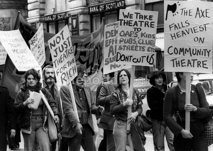 Protest against cuts to Community Theatre funding London 1977 - John Sturrock - 1977-09-30