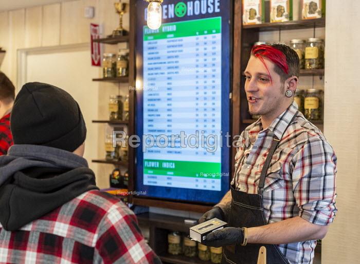 Michigan, USA, The Greenhouse medical marijuana dispensary - Jim West - 2019-02-01