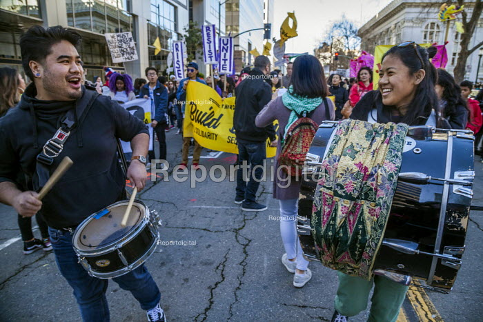 Oakland, California, USA, Reclaiming the Dream, Martin Luther King Jr Day celebration - David Bacon - 2019-01-21